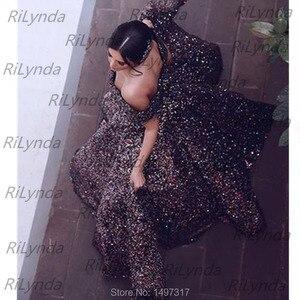 Image 3 - פאייטים ארוך ערב שמלות 2020 נפוח ספגטי רצועת כיסים ערב שמלות ערבית דובאי נשים פורמליות המפלגה שמלה