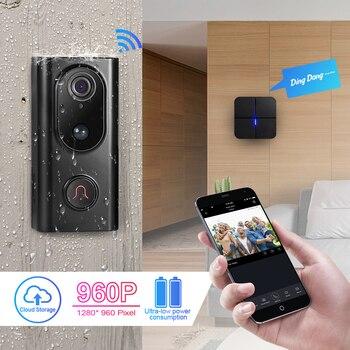 KERUI L16 1.3mp 960P Video intercomunicador inteligente inalámbrico IP Wifi timbre cámara de seguridad teléfono impermeable almacenamiento en la nube para el hogar