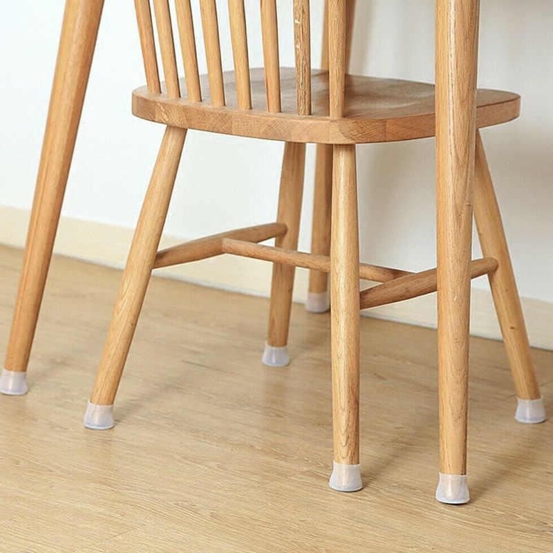 סיליקון ריהוט רגל כיסוי שולחן רגל כרית בית רצפת הגנת כיסוי צבע הבדל בחור-מכירה