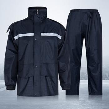 Płaszcz przeciwdeszczowy spodnie moda oddychająca mężczyźni kobiety płaszcz przeciwdeszczowy Outdoor wodoodporny sprzęt przeciwdeszczowy motocykl z kapturem kombinezon przeciwdeszczowy tanie i dobre opinie LISM CN (pochodzenie) RainWear Single-osoby przeciwdeszczowa Poliester Dorosłych TOUR WOMEN Uniwersalny JQSTOUQI Dark BLUE