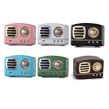 Retro Style Bluetooth Speaker HM11 Mini Speakers Bass Heavy Bass 3D Stereo Sound USB AUX Sound Effects Music Player Support image