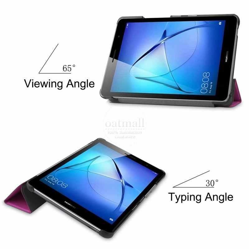พรีเมี่ยมMagnetic Smart CoverสำหรับHuawei MatePad T8 สำหรับKobe2-L09 8 นิ้วหนังกรณีแท็บเล็ตTrifold Fundas