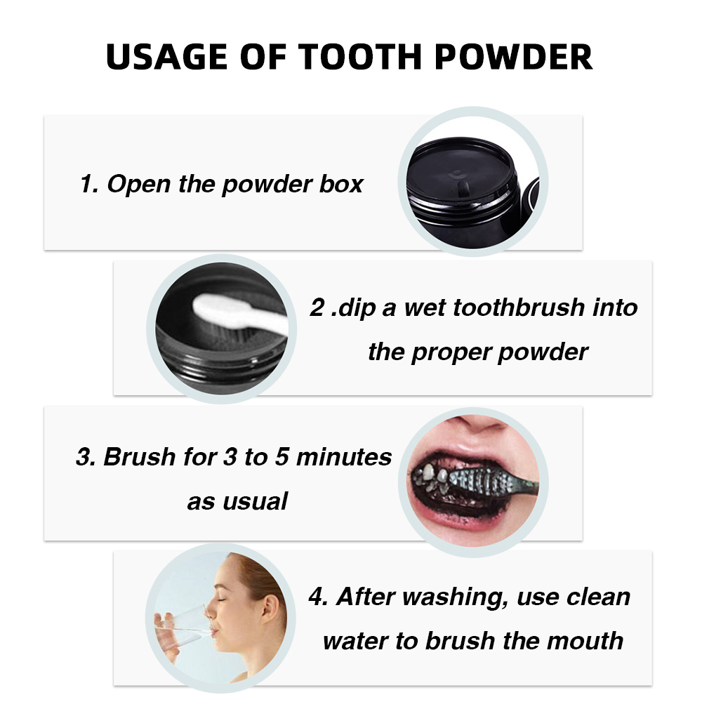 4 Blanchiment des dents au charbon actif