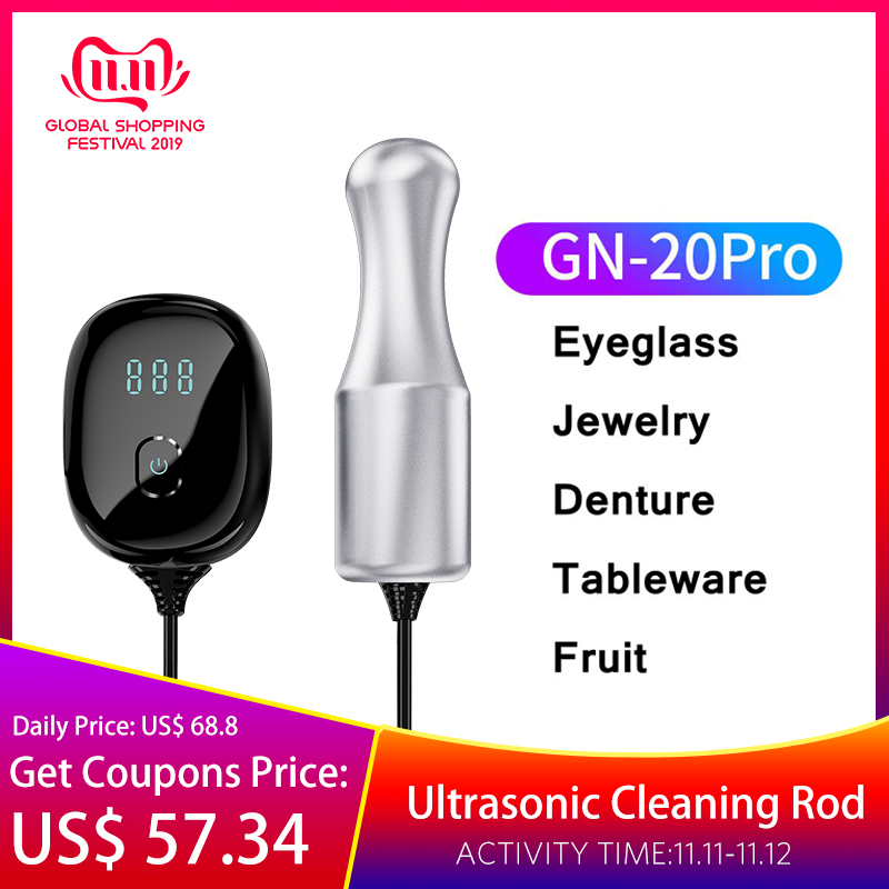 2019 Latest Portable 100W Ultrasonic Cleaner Cleaning Rod Glasses Jewelry Teeth Dental Tableware Washer Ultrasound Equipment