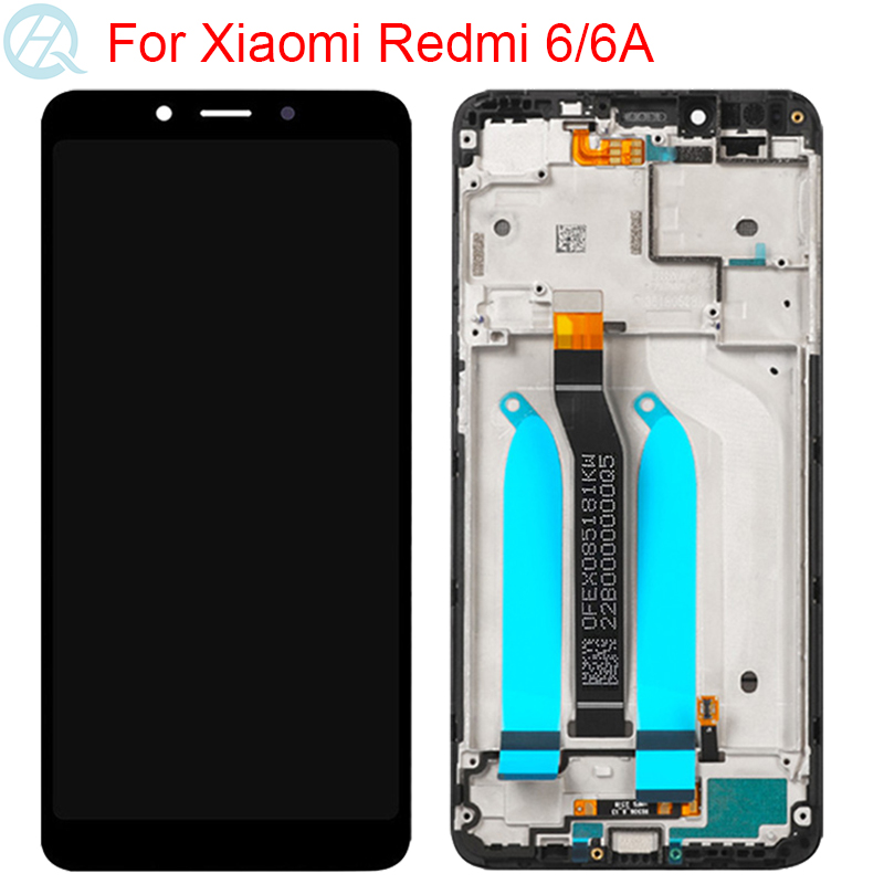10 Touch LCD For Xiaomi Redmi 6A LCD With Frame Touch Screen Assembly 5.45 Inch Original Redmi 6 Display Screen
