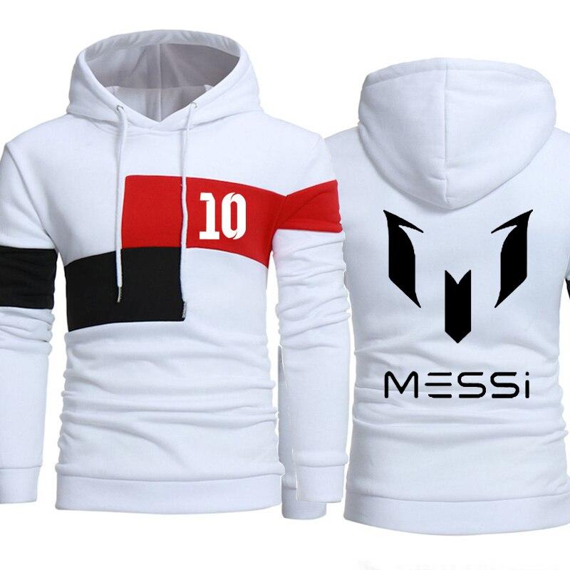 Messi Hoodie Men Messi 10 Print Sportwear Men Hoodies Sweatshirts Casual Coat Slim Fit Hoody Harajuku Hooded Tracksuit