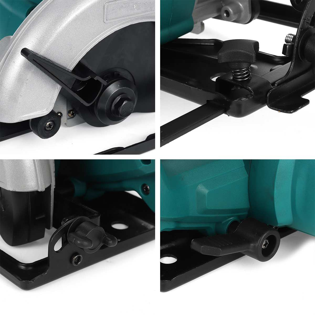 Tools : Drillpro 18V Cordless Electric Circular Saw for Makita 18V Battery 300W 152mm 6inch Blade Woodworking Cutting Tool