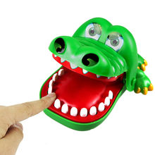iPiggy Mouth Dentist Bite Finger Toy Large Crocodile Pulling Teeth Bar Games Toys Kids Funny Toy For Children Gift(China)