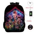 Странные вещи 3 многофункциональные USB зарядка школьный рюкзак для мальчиков и девочек рюкзак для ноутбука рюкзак для подростков дорожные с...