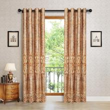 1PC European Style Curtains for Living Dining Room Bedroom Hollow Embroidery Curtains   Embroidery Window Curtain