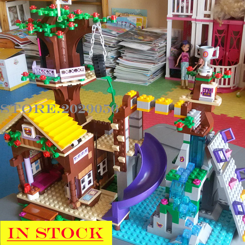 2019 New 41122 Adventure Camp Tree House Friends Series Girl 726PCS Model Building Blocks <font><b>10497</b></font> Toys Children Christmas Gifts image