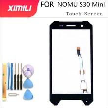 """4.7 """"panneau en verre tactile pour NOMU S30 Mini écran tactile numériseur capteur avant lentille extérieure en verre écran dorigine + outils"""