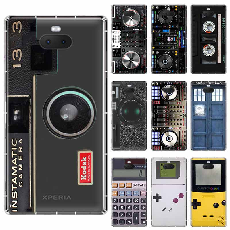 Reminiscent Classic Camera <font><b>Battery</b></font> soft TPU <font><b>Case</b></font> For <font><b>Sony</b></font> <font><b>Xperia</b></font> X <font><b>XA</b></font> XA1 XA2 XA3 XZ XZ1 XZ2 XZ3 XZ4 L1 L2 L3 Plus Compeact image