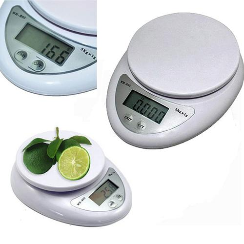 Portable 5kg 1g Digital Scale LCD Electronic Scales Steelyard Kitchen Scales Postal Food Balance Measuring Weight