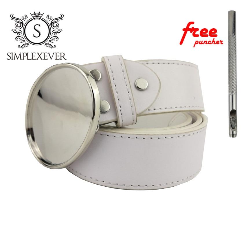 Custom DIY Metal Belt Buckle Blank Men's Belt Buckle Jean's Accessories With Pu Belt As Gifts