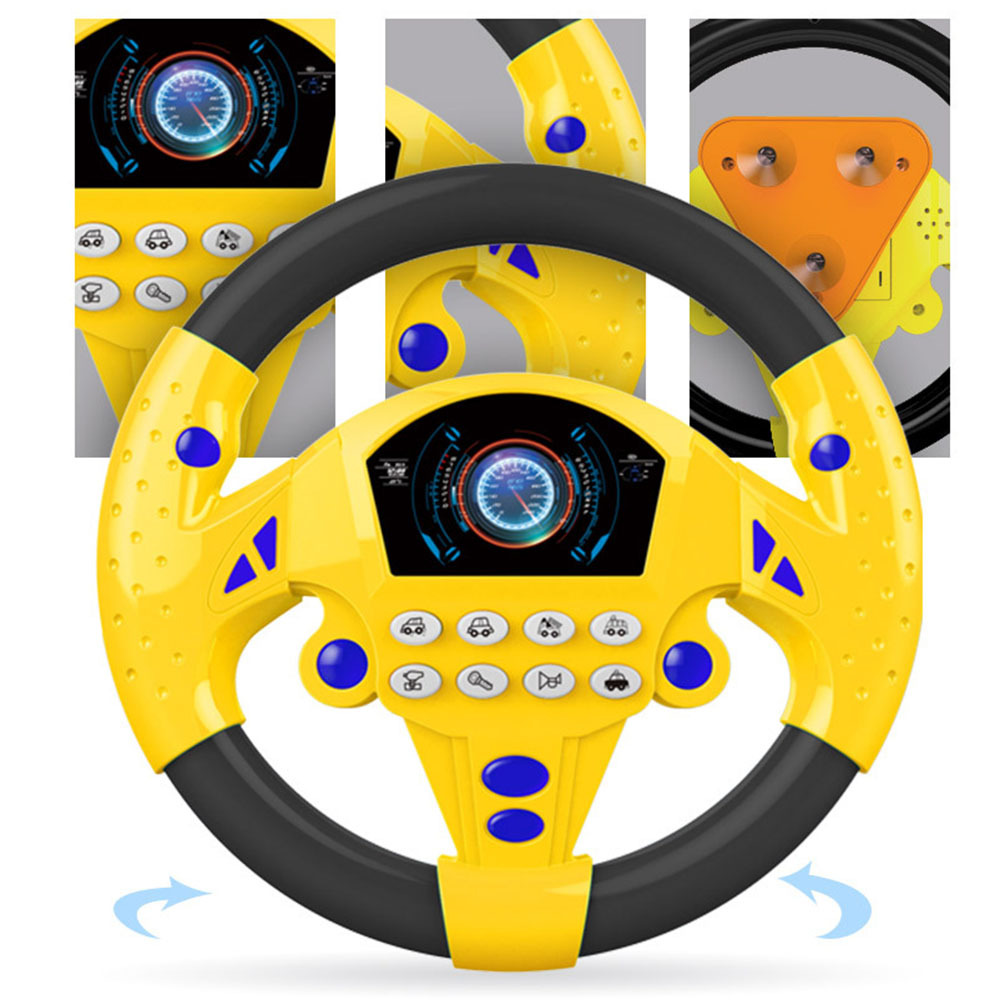 2019 New Electric Musical Instruments Baby Steering Wheel Development  Educational Colorful Toys For Kids Boy Girl Birthday Gift