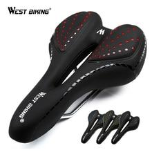 WEST BIKING Bicycle Saddle Breathable PU Leather Hollow Cushion Comfortable Road MTB Bike GEL + Polyurethane Shockproof