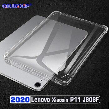 Funda transparente para tableta Lenovo Tab P11 J606F, 11 pulgadas, TB J606N J606L, resistente a caídas, delgada, de TPU, cubierta trasera de silicona