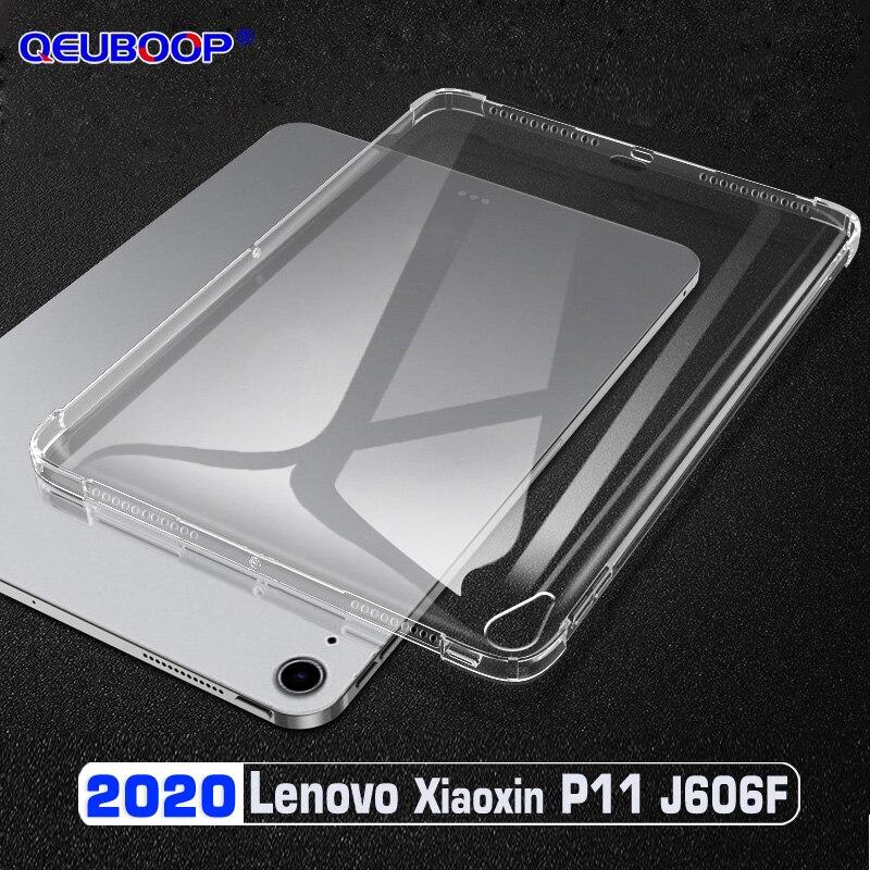 Прозрачный чехол для планшета Lenovo Tab P11, J606F, 11 дюймов, TB, J606N, J606L, противоударный Тонкий чехол из ТПУ, силиконовая задняя крышка, чехол|Чехлы для планшетов и электронных книг|   | АлиЭкспресс