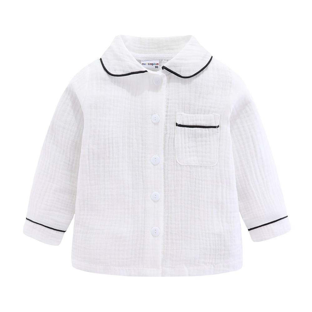 Mudkingdom Boys Pajamas Set Plain Collared Long Sleeve Spring Autumn Kids Sleepwear Clothes Set 5