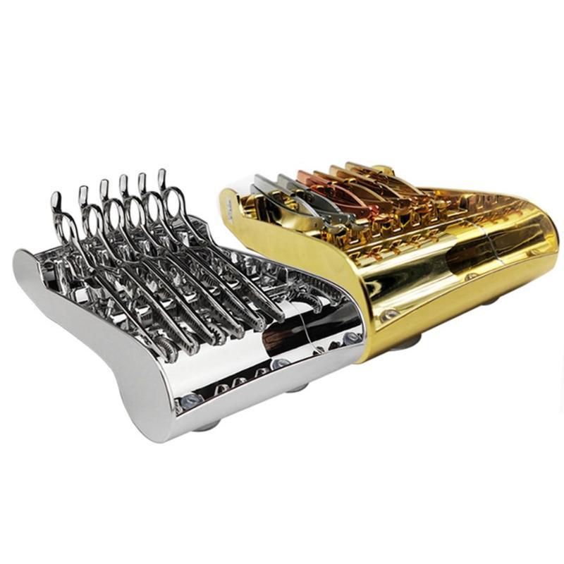Salon Hair Scissor Organizer Shelf Plating Scissors Storage Rack Shears Holder Barber Salon Hair Styling Tool