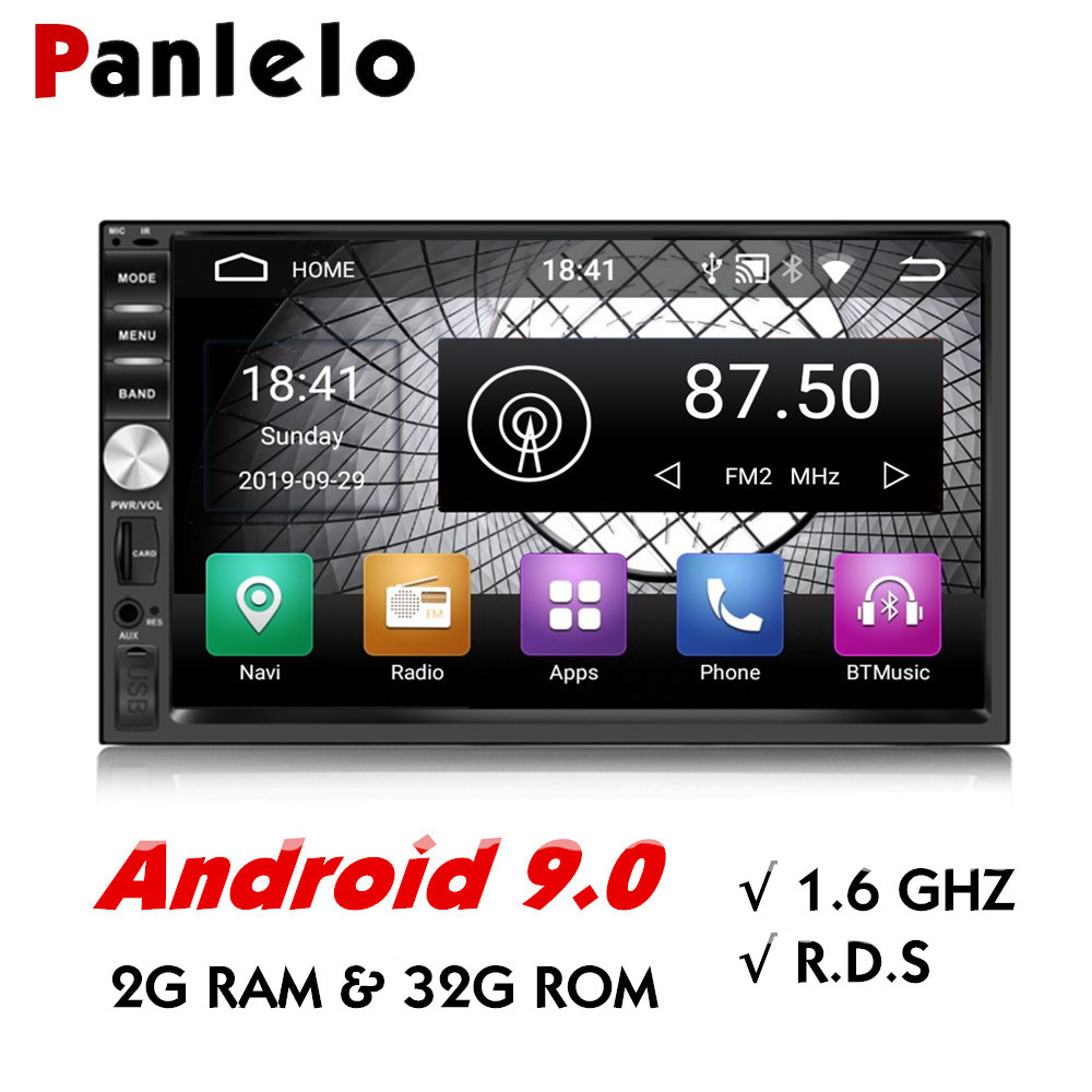 Panlelo S1 Plus 2 Din Android Auto Radio GPS Navigation 2G 32G Android 9.0 Auto Stereo 2 din mit bluetooth 7 zoll Android für Kia