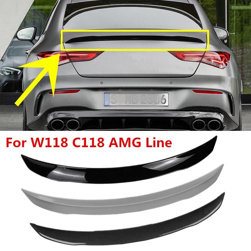 Задний спойлер C118 для Mercedes Benz CLA Class W118 2019-2024 CLA250 CLA200 CLA220, черный спойлер для заднего крыла из углеродного волокна