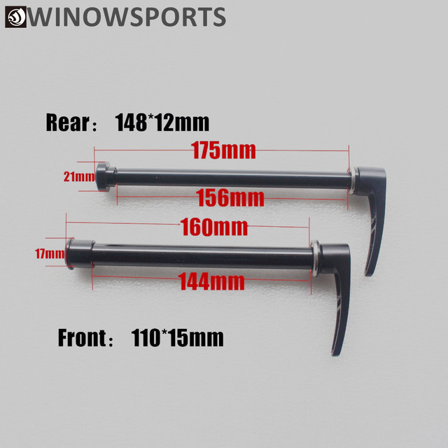 Bicycle Thru Axle Aluminum Quick Release Skewer Super Light mtb carbon frame thru front 110*15mm boost rear 148*12mm TA Shafter