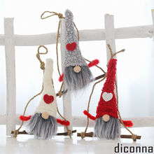 2019 Newest Cute Christmas Decoration Wooly Jumper Tree Hemp Rope Wooden Pendant Hanging Decorations wooden easter bunny pattern hanging plaque home hanging decorations with 40cm hemp rope