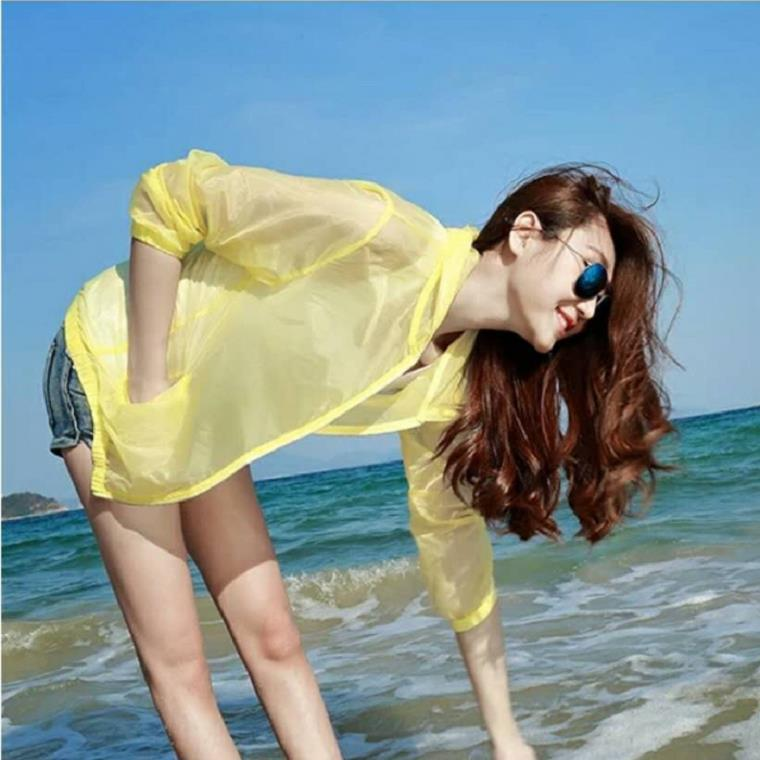 Clothing New Style Ultra-Thin New Style 2019 Breathable WOMEN'S Dress Coat Beachwear Horse Chen M1622