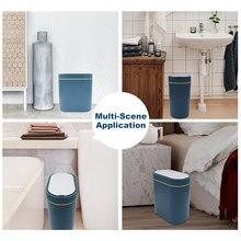 Intelligent Sensor Trash Can Electronic Automatic Waterproof Sensor Rubbish Bin Smart HomeTrash Can For Bedroom Bathroom Kitchen