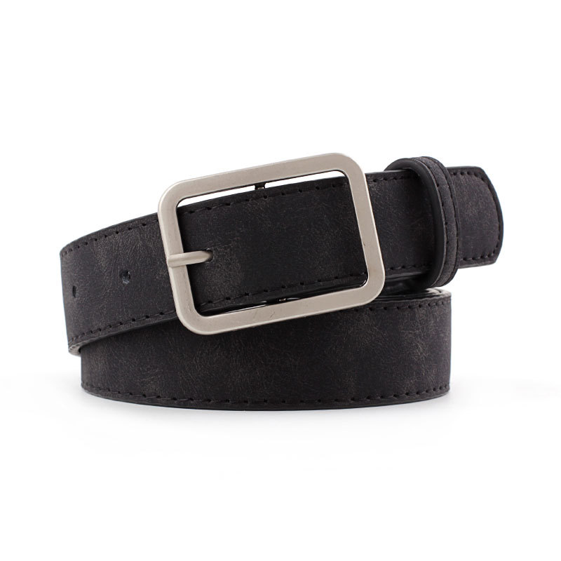 2019 New Designer Woman Black Brown Thin Skinny Wasit Belt Female Streetwear Pu Leather Waistband Belts For Women Jeans Cinturon