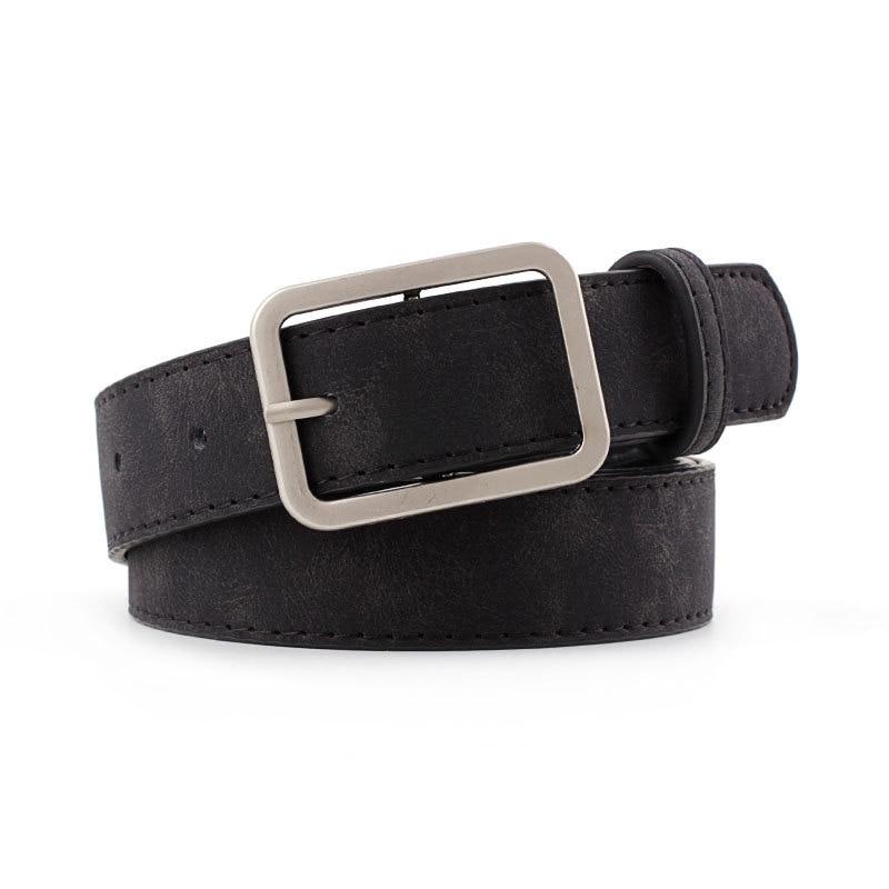 2020 New Designer Woman Black Brown Thin Skinny Wasit Belt Female Streetwear Pu Leather Waistband Belts For Women Jeans Cinturon