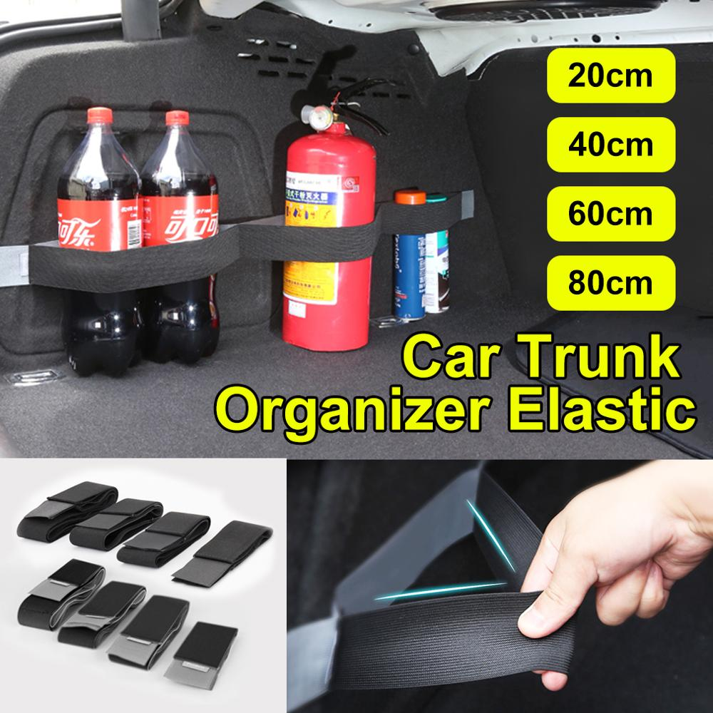 1pcs Car Trunk Organizer Elastic Car Organizer Belt Practical Fixed Storage Stowing Tidying Sticky Tape Belt Car Accessories