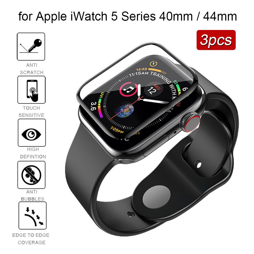 3pcs Tempered Glass For Apple Watch 5 Series 40mm / 44mm Scratch-Resistant Screen Protector Film Protector De Pantalla Glas 9h