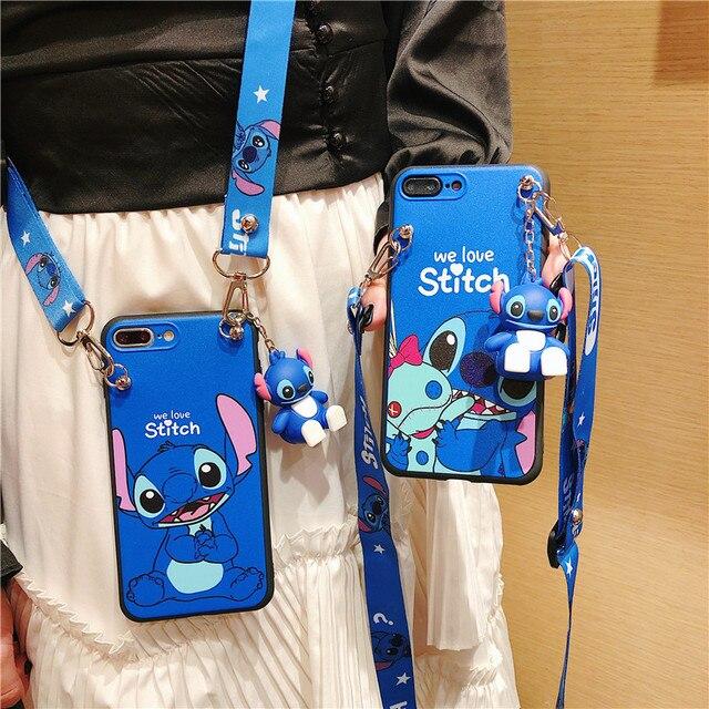 Cinta Diagonal Boneca Caso de Telefone Para Samsung Galaxy S20 A50 A70 A20 A30 S8 S9 S10 A7 A8 2018 A6 A8 J4 J6 Mais Macio Ponto Cobre