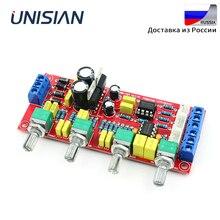 يونيسيان NE5532 OP AMP HIFI Preamplifier باس ثلاثة أضعاف التوازن حجم لهجة EQ لوحة تحكم لمكبرات الصوت لتقوم بها بنفسك عدة المزدوج acخزف