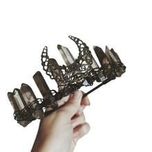 Женская этническая бижутерия повязка на голову с короной искусственный