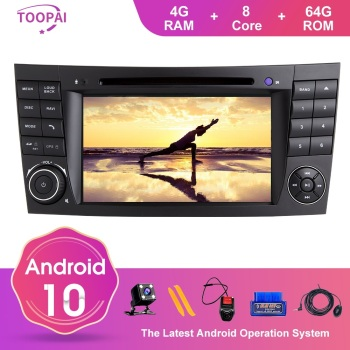 TOOPAI Android 10 For Mercedes Benz E-Class W211 E300 CLK W209 CLS W219 2002-2009 GPS Navigation Multimedia Player SWC DVD CD image
