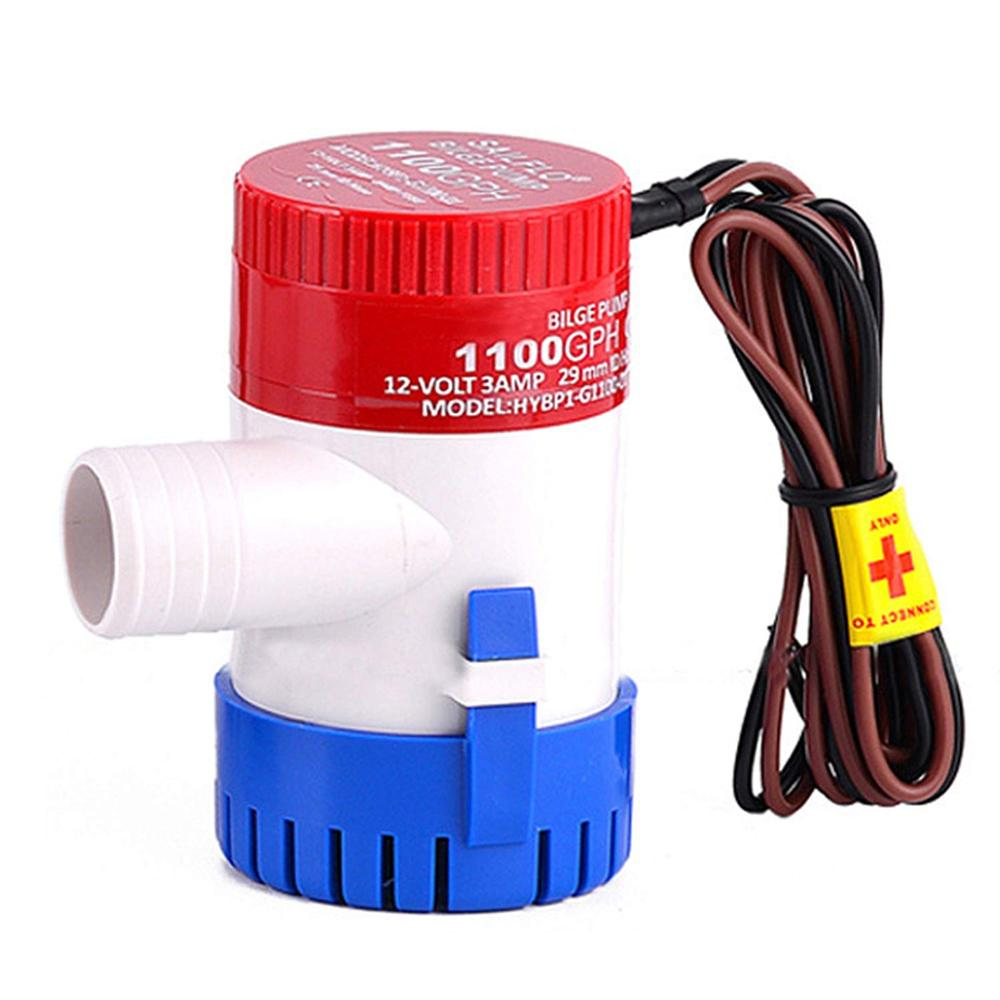 Fagoozon 12V Bilge Pump 1100GPH Submersible Boat Bilge Water Pump