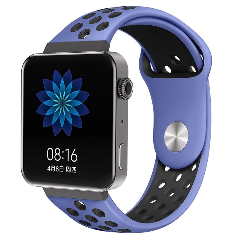 Мягкий силиконовый ремешок для часов для xiaomi smart watch, новинка, сменный ремешок для mi watch, резиновый ремешок для часов, аксессуары - Цвет: 8067