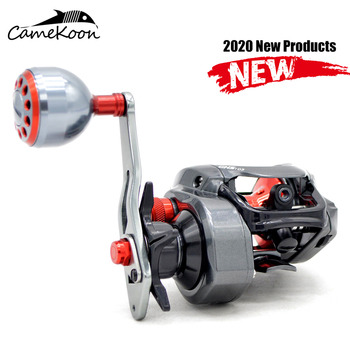 CAMEKOON Left/Right Hand Saltwater Baitcasting Reel 7.3:1 Bait Casting Fishing Wheel with Magnetic Brake Carp Fishing Coil saltwater high speed 18bb magnetic brake bait casting reel bass saltwater fishing reels