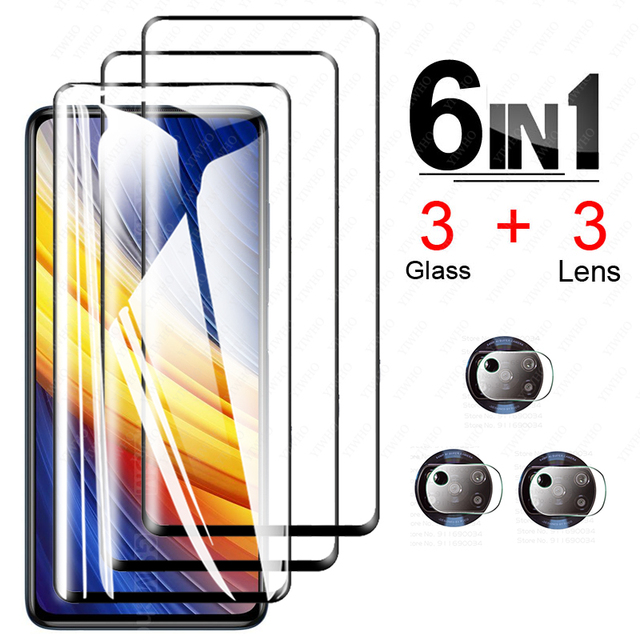 For Poco X3 Pro Screen Protector Glass for Xiaomi Poco X3 Pro Tempered Glass for Poco F3 M3 X3 Nfc Pro X3pro Camera Lens Glass 1