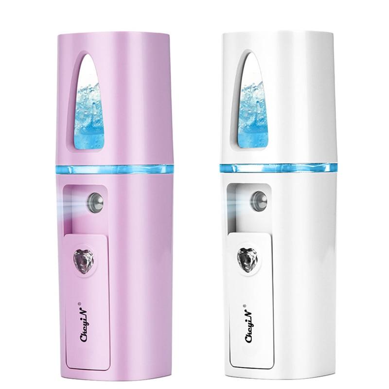 Mini Facial Steamer Humidifier Face Skin Hydrating Mist Nebulizer Nano Mister Women Fade Fine Line Anti Aging Beauty Tools