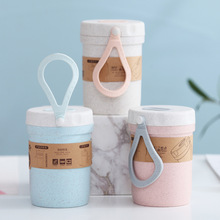 Wheat straw cup soup cup breakfast cup portable hand cup insulation cup plastic cup portable viscosity cup 4 zahn cup