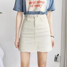 Summer skirt new stretch denim short skirt a-line skirt female anti-glare pants skirt high waist bag hip skirt was thin skirt skirt figl skirt