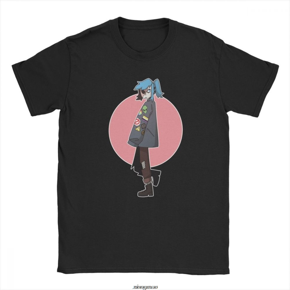 Men's Patches Sally Face T Shirts Short Sleeve Clothes Graphic Novelty Tees Printed Round Neck T-Shirt image