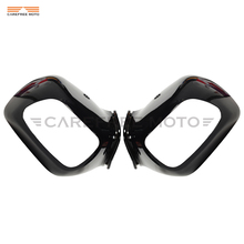 Black Motorcycle Rear View Side Mirrors Cover Case for HONDA Goldwing GL1800 GL 1800 F6B 2013 2014 2015