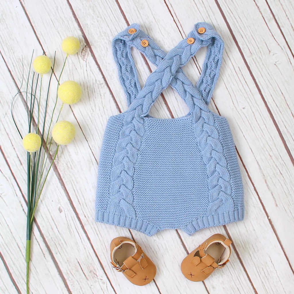 Bebé recién Nacido niñas suéter con botones de invierno pantalones de punto babero ropa de abrigo sólido Recien Nacido ropa de bebé ropa Infantil