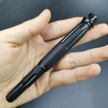 Black Fuliwen 015 Windmill Metal Aluminum Fountain Pen Rotating Ruby Top EF/F/M Ink Pen, Come with Bag & Box